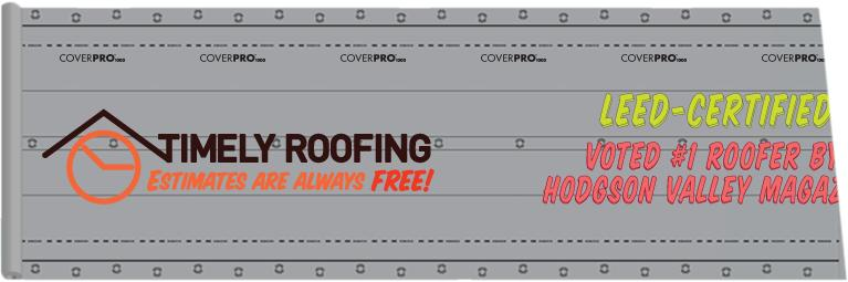 Timley Roofing custom printed roof advertising