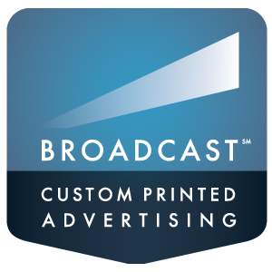 Broadcast custom printed advertising logo
