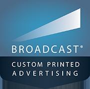 Broadcast custom printed advertising